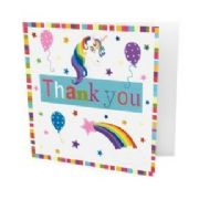 Pack of 10 Unicorn Thank You Cards